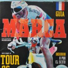 Coleccionismo deportivo: LOTE DE PERIODICOS Y REVISTAS MIGUEL INDURAIN TOUR DE FRANCIA 95 Y 96. Lote 51009390