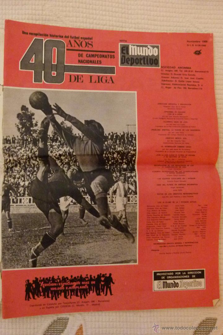 Coleccionismo deportivo: EL MUNDO DEPORTIVO 40 AÑOS DE CAMPEONATOS NACIONALES DE LIGA - NOVIEMBRE DE 1968 - Foto 7 - 51112918