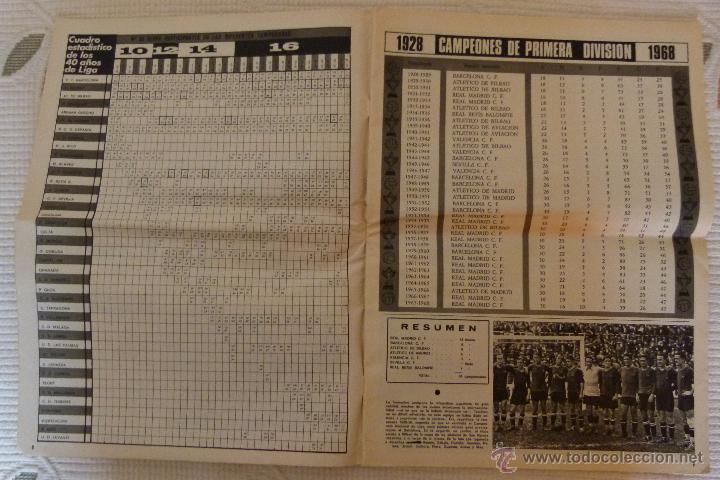 Coleccionismo deportivo: EL MUNDO DEPORTIVO 40 AÑOS DE CAMPEONATOS NACIONALES DE LIGA - NOVIEMBRE DE 1968 - Foto 9 - 51112918