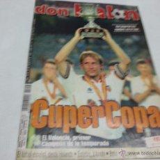 Coleccionismo deportivo: REVISTA DON BALÓN Nº 1244 AGOSTO 1999 VALENCIA CAMPEÓN SUPERCOPA ESPAÑA. Lote 51138802
