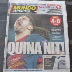 Colecionismo desportivo: MUNDO DEPORTIVO-(13-3-13)-CHAMPIONS !!!QUE NOCHE!!! BARÇA 4 MILAN 0.. Lote 51253587