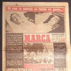 Coleccionismo deportivo: PERIODICO DE AGOSTO 1947 DIARIO MARCA NUMERO Nº 1484 ESPECIAL MUERTE DEL TORERO MANOLETE. Lote 51565264
