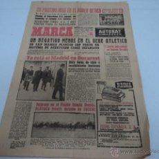 Coleccionismo deportivo: DIARIO DEPORTIVO MARCA AÑO 1963 EL REAL MADRID EN BUCARESTE PARA EL PARTIDO . Lote 51603087