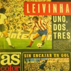 Coleccionismo deportivo: AS COLOR 228 SEPTIEMBRE 75 LEIVINHA POSTER JUANITO HERCULES C.F. ADELARDO ATLETICO MADRID FANGIO. Lote 51604626