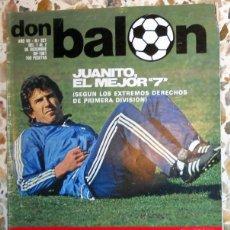 Coleccionismo deportivo: DON BALON Nº321 DICIEMBRE 1981.JUANITO - REAL MADRID.STIELIKE - SCHUSTER FC BARCELONA FUTBOL VINTAGE. Lote 51677872