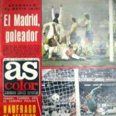 Coleccionismo deportivo: AS COLOR 340 REAL MADRID BETIS NIKI LAUDA F1 D´ALESSANDRO POULIDOR GUILLERMO VILAS HECTOR NUÑEZ. Lote 51719849