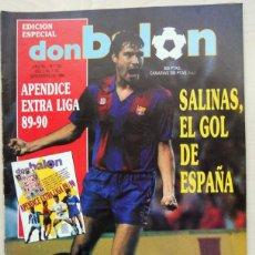 Colecionismo desportivo: DON BALON Nº733 NOVIEMBRE 1989.EDICION ESPECIAL APENDICE EXTRA LIGA 89-90. SALINAS. FUTBOL VINTAGE. Lote 51721461