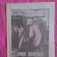Coleccionismo deportivo: JOHN SURTEES (MOTOCICLISMO). SUPLEMENTO BIOGRÁFICO DE MARCA. 1964. Lote 51783433