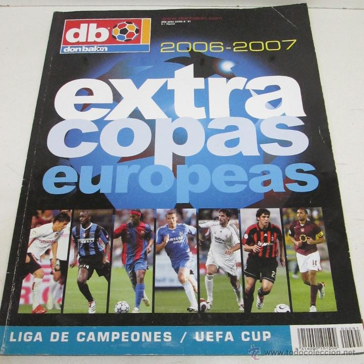 EXTRA DON BALON COPAS EUROPEAS 2006-2007 (Coleccionismo Deportivo - Revistas y Periódicos - Don Balón)