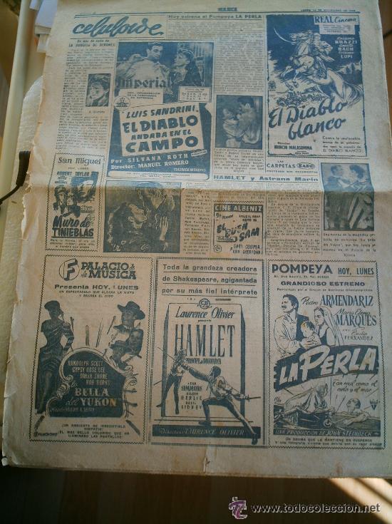 Coleccionismo deportivo: PERIÓDICO MARCA DEL AÑO 1949 FALTA LA PÁGINA DE LA PORTADA - Foto 3 - 51931574