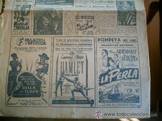 Coleccionismo deportivo: PERIÓDICO MARCA DEL AÑO 1949 FALTA LA PÁGINA DE LA PORTADA - Foto 4 - 51931574