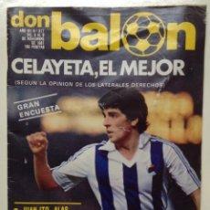Colecionismo desportivo: REVISTA DON BALON Nº317 - DEL 3 AL 9 NOVIEMBRE DE 1981 - PORTADA CELAYETA , EL MEJOR (B). Lote 52021944