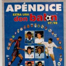 Coleccionismo deportivo: EXTRA LIGA DON BALON APENDICE 97/98. Lote 52302888