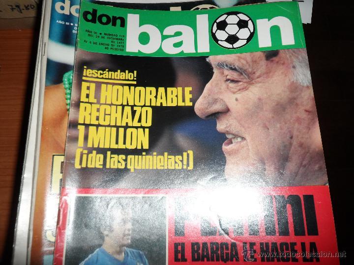 Coleccionismo deportivo: DON BALON Nº 116 1977 REPORTAJE COLOR KEMPES VALENCIA DIARTE ZARAGOZA CARDEÑOSA REAL BETIS - Foto 6 - 38441194