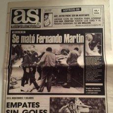 Collectionnisme sportif: PERIODICO AS (Nº 6.950) 4/12/1989 MUERTE DE FERNANDO MARTIN. Lote 52541279