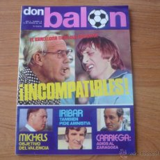 Coleccionismo deportivo: REVISTA DON BALON AÑO II Nº 19 10 FEBRER0 1976: CRUYFF - WEISWEILER POSTER REZZA SALAMANCA. Lote 52545043