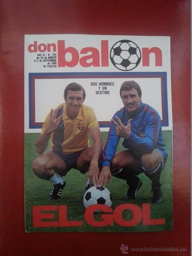 DON BALON 255 AÑO 1980. QUINI Y KRANKL. FC BARCELONA BARÇA (Coleccionismo Deportivo - Revistas y Periódicos - Don Balón)