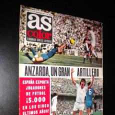 Coleccionismo deportivo: AS COLOR Nº 18 21-09-1971 / POSTER C.D. MALAGA. Lote 52662657
