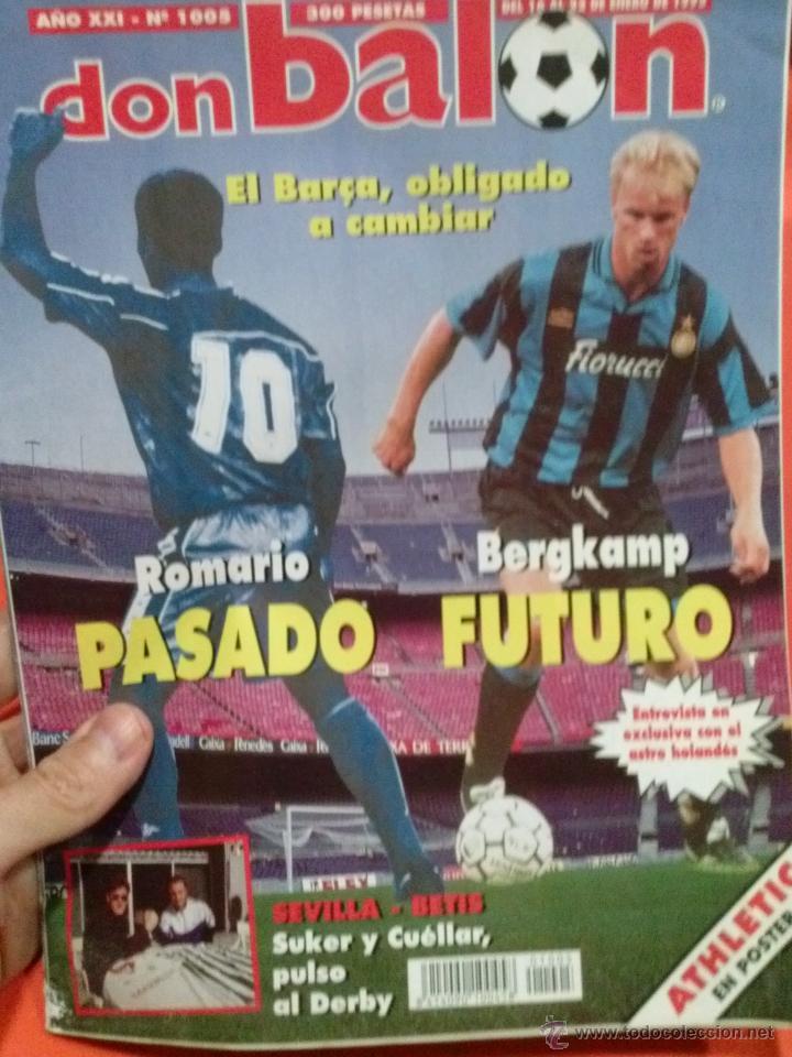 DON BALON ROMARIO PASADO BERGKAMP FUTURO (Coleccionismo Deportivo - Revistas y Periódicos - Don Balón)
