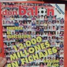 Coleccionismo deportivo: DON BALON 12000 MILLONES EN CONTRATOS EMPIEZA EL ESPECTACULO . Lote 52879953
