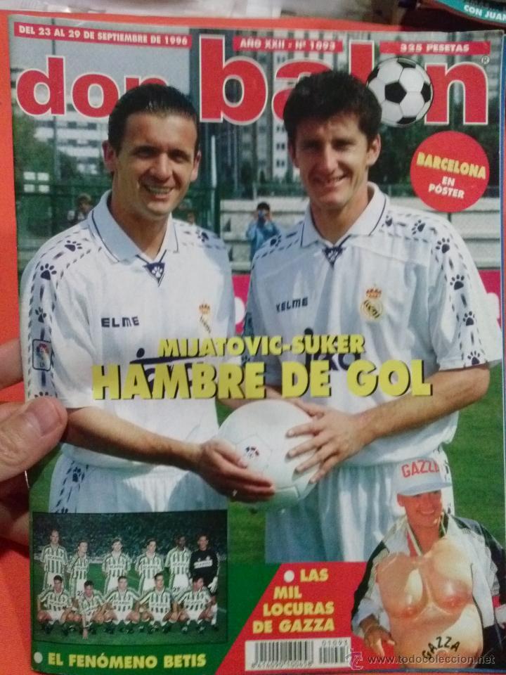 DON BALON MIJATOVIC SUKER HAMBRE DE GOL (Coleccionismo Deportivo - Revistas y Periódicos - Don Balón)