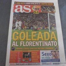 Colecionismo desportivo: AS (22-11-15)GOLEADA DEL BARÇA AL FLORENTINATO!!! REAL MADRID 0 F.C.BARCELONA 4 !!!!. Lote 52913147