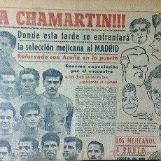 Coleccionismo deportivo: MARCA 27-11-49 ¡¡¡ A CHAMARTIN !!! SELECCIÓN MEJICANA FRENTE AL MADRID. ATLÉTICO MADRID Y VALLADOLID. Lote 53029228