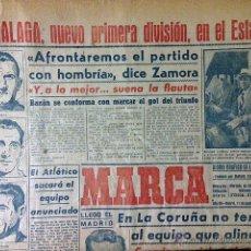Coleccionismo deportivo: MARCA 11-4: 9 MÁLAGA, NUEVO 1ª DIVISIÓN. RICARDO ZAMORA, ENTRENADOR. R MADRID EN LA CORUÑA. Lote 53029664