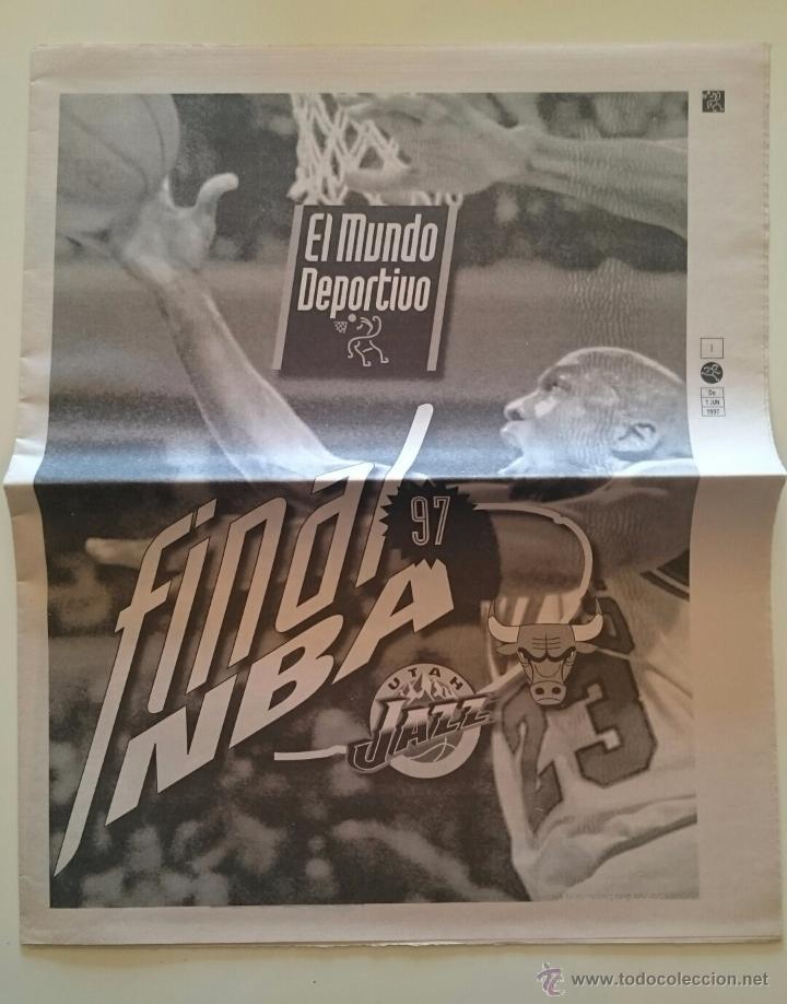 SUPLEMENTO FINAL 1 JUNIO 1997 NBA BALONCESTO MICHAEL JORDAN CHICAGO BULLS - UTAH JAZZ (Coleccionismo Deportivo - Revistas y Periódicos - Mundo Deportivo)
