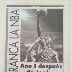 Coleccionismo deportivo: SUPLEMENTO SPORT NBA 4 NOV 1993 AÑO I POST JORDAN 1ª RETIRADA. Lote 53045736