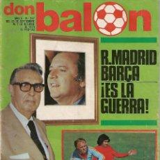 Coleccionismo deportivo: DON BALON Nº 207 - AÑO 1979 - R. MADRID - BARÇA ¡ES LA GUERRA ! - KUBALA, SELECCION ESPAÑA 80. Lote 53171153