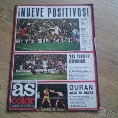 Coleccionismo deportivo: AS COLOR 191 ENERO 1975 CON POSTER DEL REAL ZARAGOZA EN PAGINAS CENTRALES.. Lote 53282661