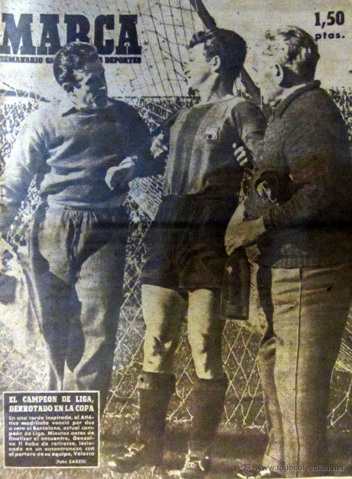 DIARIO MARCA MAYO 1948 ESPAÑOL REAL MADRID INAUGURACION STADIUM CASABLANCA ZARAGOZA BARACALDO (Coleccionismo Deportivo - Revistas y Periódicos - Marca)