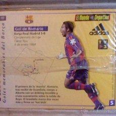 Coleccionismo deportivo: HOLOGRAMA VIRTUAL CARD TIPO TARJETA GOLES MEMORABLES BARCELONA MUNDO DEPORTIVO Nº 5 ROMARIO. Lote 53305837