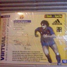Coleccionismo deportivo: HOLOGRAMA VIRTUAL CARD TIPO TARJETA GOLES MEMORABLES BARCELONA MUNDO DEPORTIVO Nº 12 MARCOS. Lote 53305873