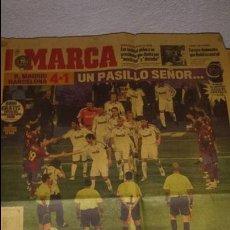 Coleccionismo deportivo: PORTADA MARCA - PASILLO DEL BARCELONA AL REAL MADRID - 8 DE MAYO DE 2008. Lote 53352742