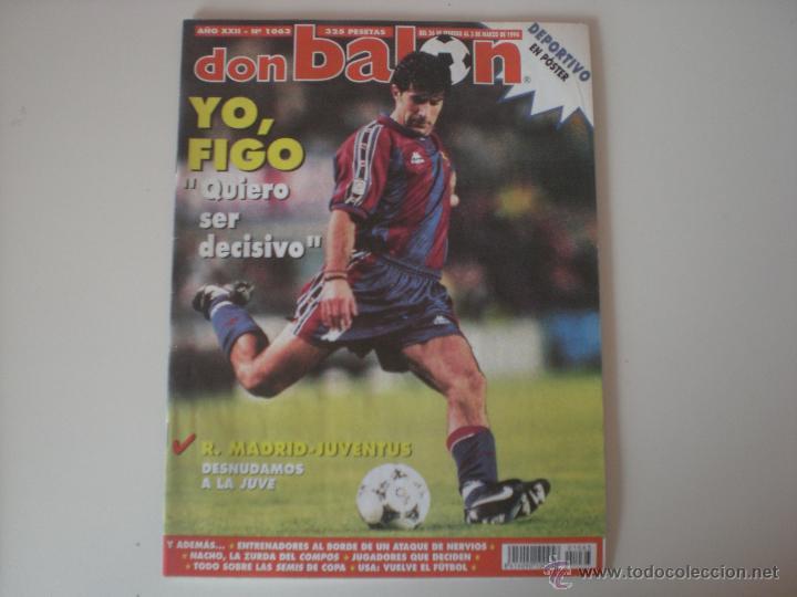 REVISTA DON BALÓN AÑO 1996 - XXII (Nº 1063) (Coleccionismo Deportivo - Revistas y Periódicos - Don Balón)
