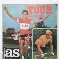 Coleccionismo deportivo: PERIODICO AS CICLISMO NUMERO EXTRAORDINARIO TOUR DE FRANCIA - BAHAMONTES Y EDDY MERCKX. Lote 53460161