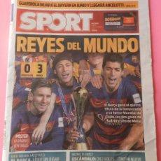 Coleccionismo deportivo: DIARIO SPORT BARÇA CAMPEON MUNDIAL CLUBS 2015 POSTER FC BARCELONA MUNDIALITO 15 CLUBES RIVER PLATE. Lote 53497385