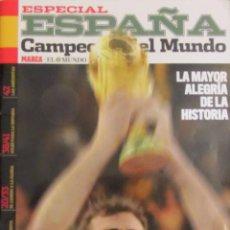 Coleccionismo deportivo: REVISTA MAGAZINE ESPECIAL ESPAÑA CAMPEON MUNDIAL SUDAFRICA 2010 MARCA EL MUNDO FIFA WORLD CUP. Lote 53536836