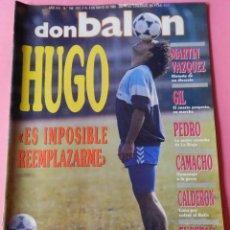 Collezionismo sportivo: DON BALON Nº 758 1990 POSTER EUSEIBIO FC BARCELONA 89/90-HUGO SANCHEZ-MARTIN VAZQUEZ-CAMACHO. Lote 53568145