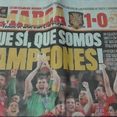 Coleccionismo deportivo: ESPAÑA CAMPEONA DEL MUNDO, MARCA - LUNES 12 DE JULIO 2010.. Lote 53592394