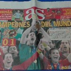 Coleccionismo deportivo: ESPAÑA CAMPEONA DEL MUNDO, AS - LUNES 12 DE JULIO 2010.. Lote 53592519