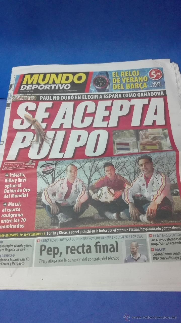 MUNDIAL DE SUDAFRICA - (MUNDO DEPORTIVO 10 DE JULIO 2010). (Coleccionismo Deportivo - Revistas y Periódicos - Mundo Deportivo)