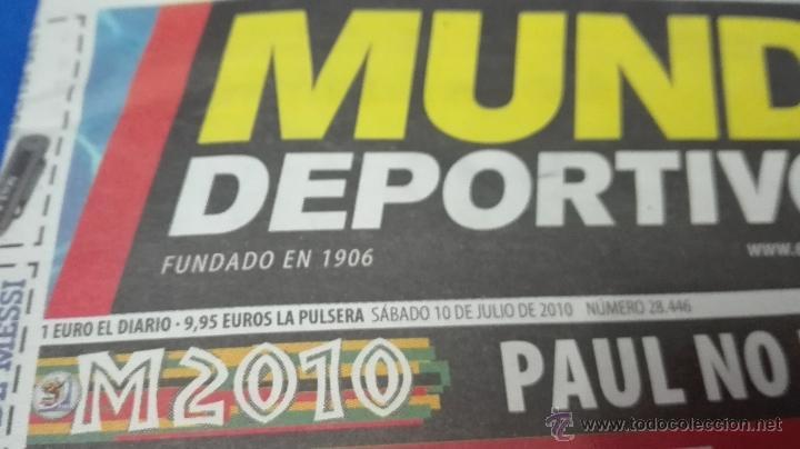 Coleccionismo deportivo: MUNDIAL DE SUDAFRICA - (MUNDO DEPORTIVO 10 DE JULIO 2010). - Foto 4 - 53601849