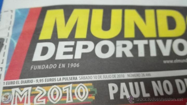 Coleccionismo deportivo: MUNDIAL DE SUDAFRICA - (MUNDO DEPORTIVO 10 DE JULIO 2010). - Foto 5 - 53601849