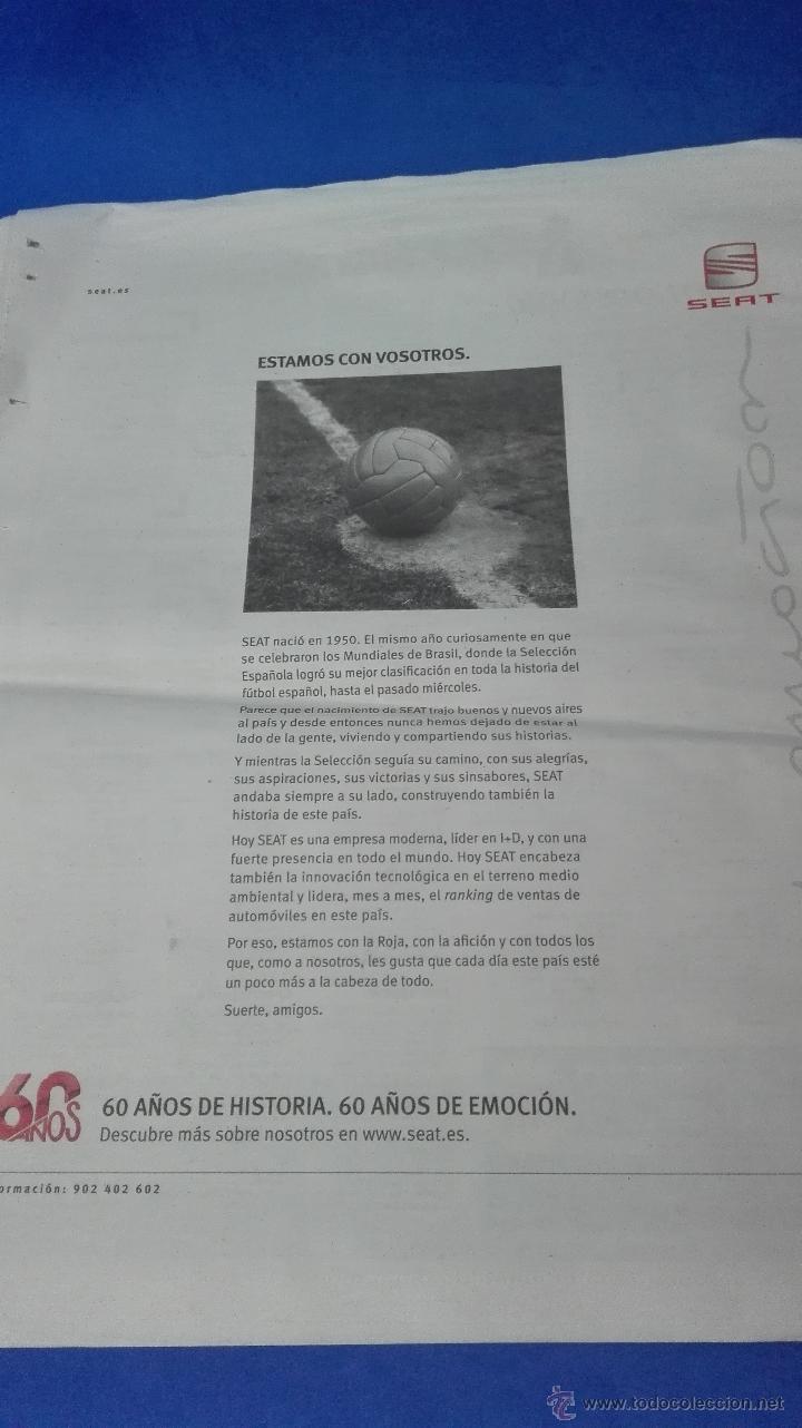 Coleccionismo deportivo: MUNDIAL DE SUDAFRICA - (MUNDO DEPORTIVO 10 DE JULIO 2010). - Foto 6 - 53601849