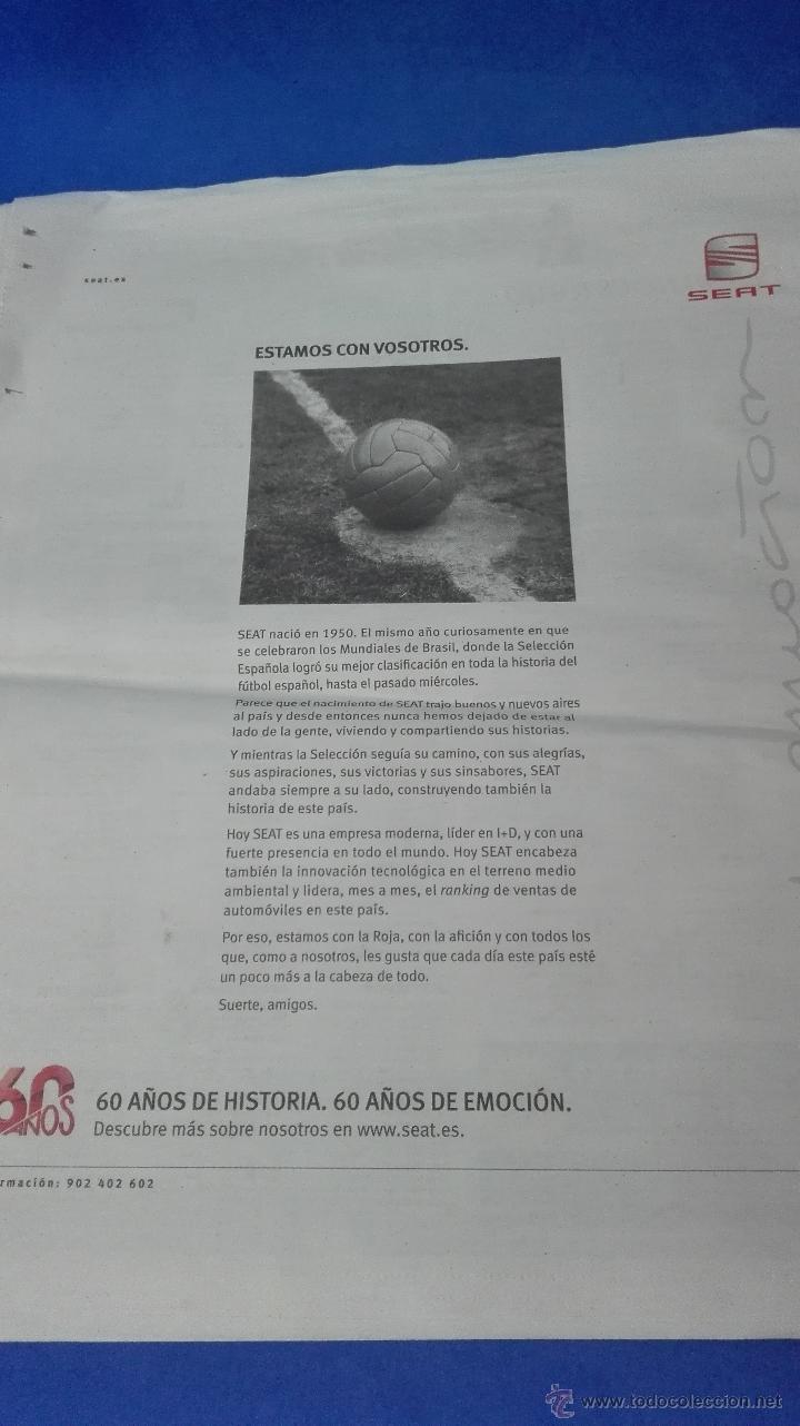 Coleccionismo deportivo: MUNDIAL DE SUDAFRICA - (MUNDO DEPORTIVO 10 DE JULIO 2010). - Foto 7 - 53601849