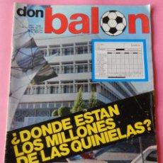 Coleccionismo deportivo: DON BALON Nº 1 1975 POSTER SOTIL FC BARCELONA 75/76 PRIMERA REVISTA NUMERO UNO COLECCIONISTA. Lote 105264571