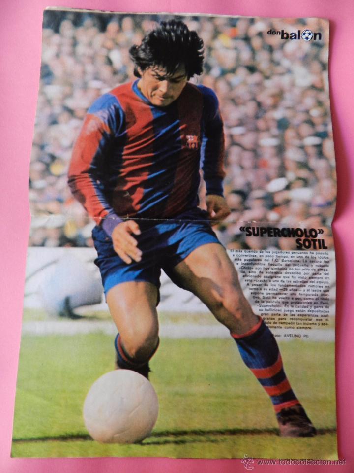 Coleccionismo deportivo: DON BALON Nº 1 1975 POSTER SOTIL FC BARCELONA 75/76 PRIMERA REVISTA NUMERO UNO COLECCIONISTA - Foto 2 - 105264571
